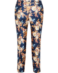 J.Crew Collection Printed Shantung Straight Leg Pants
