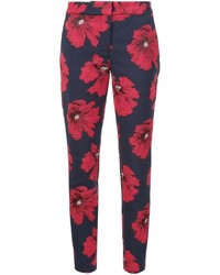 Lela Rose Floral Slim Trousers