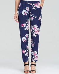 Joie Pants Talina B Bouquet Print Silk