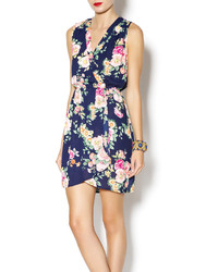 Bella springfield navy floral tank dress medium 189311