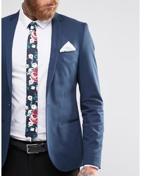 0dc867cd349f Asos Brand Wedding Floral Tie And Pocket Square Pack Save 21%, $19 ...