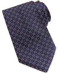 Floral pattern woven tie navyred medium 193028