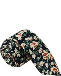 Skinny Tie Madness Floral Print Tie