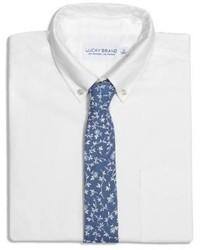 Lucky Brand Forage Navy Floral Tie