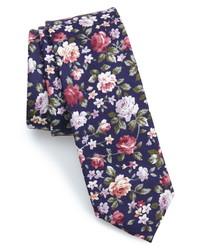 The Tie Bar Moody Floral Cotton Tie