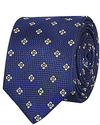 River Island Navy Floral Print Tie
