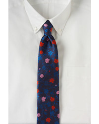 Lands' End Silk Jacquard Floral Necktie