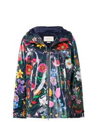 Gucci Floral Print Parka Coat