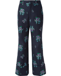 Gucci Cotton And Wool Blend Jacquard Wide Leg Pants