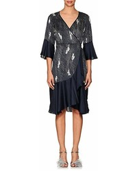 By Ti Mo Bytimo Dot  Floral Crepe Wrap Dress
