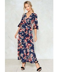 Nasty Gal Dont Let The Sun Catch You Crying Floral Dress