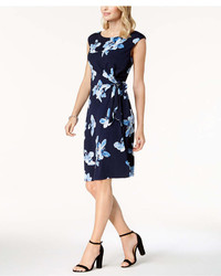Connected Floral Print Wrap Dress Regular Petite Sizes