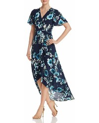 Cotton Candy La Floral Print Maxi Wrap Dress
