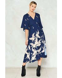 Nasty Gal Learning To Fly Floral Dress