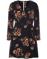 Only Navy Floral Wrap Dress