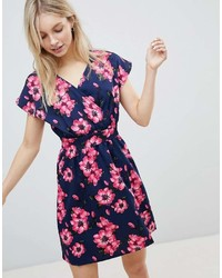 Qed London Floral Tulip Dress
