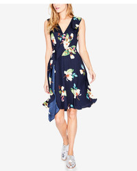 Rachel Roy Rachel Floral Print Faux Wrap Dress Created For Macys