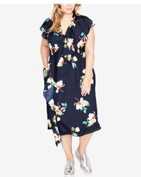 Rachel Roy Rachel Trendy Plus Size Ruffled Midi Dress