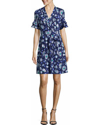 Liz Claiborne Ruffle Sleeve Wrap Knit Dress