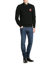 Alexander McQueen Cashmere Pullover With Embellisht
