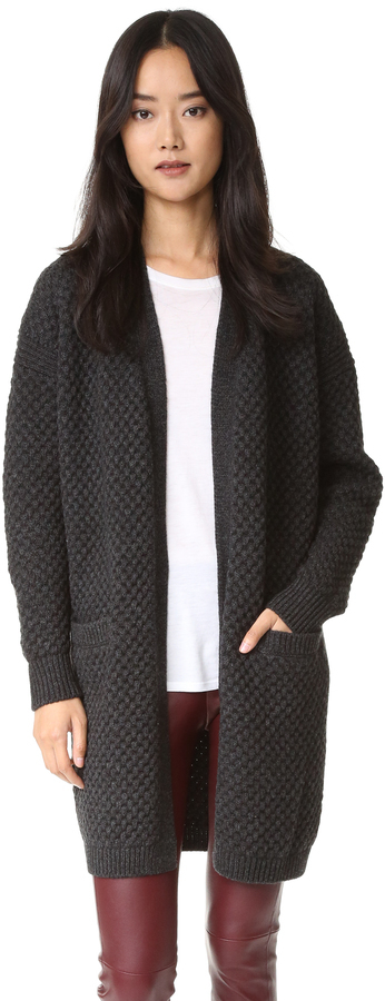 090eb016f109a ... Navy Fluffy Open Cardigans Vince Vince Honeycomb Cardigan