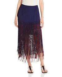 Aubrie fringed maxi skirt medium 161741