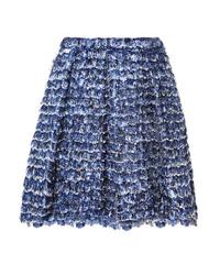 Proenza Schouler Fringed Printed Crepe Mini Skirt