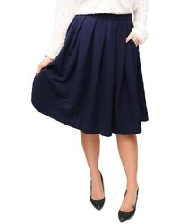 Comme toi navy pleated skirt medium 346770