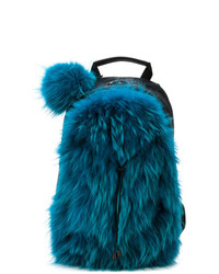 Mr & Mrs Italy Camouflage Straps Fur Backpack