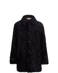 Burberry Curly Shearling Coat