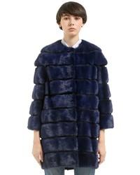 Mink fur coat w detachable panels medium 4417824