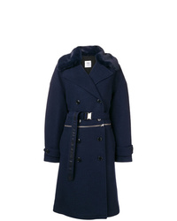 Closed Double Breasted Fitted Coat