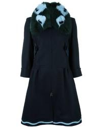 Fendi Fox Fur Collar Coat