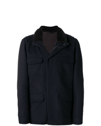 Manzoni 24 Fur Collar Single Breasted Coat