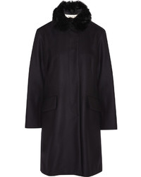 Marni Shearling Trimmed Wool Felt Coat