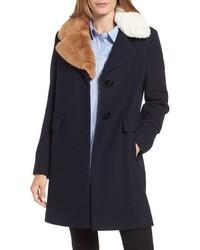 Sam Edelman Walker Faux Fur Collar Coat