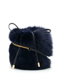 Mr & Mrs Italy Fox Fur Shoulder Bag