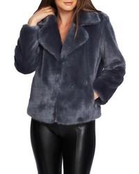 Navy Fur Jacket