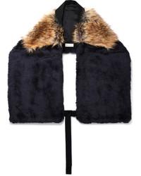 Dries Van Noten Two Tone Faux Fur Scarf