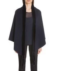 Max Mara Cashmere Genuine Mink Fur Wrap