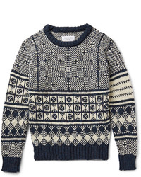 Thom Browne Jacquard Knit Wool And Mohair Blend Sweater