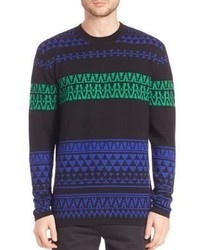 McQ by Alexander McQueen Mcq Alexander Mcqueen Geometric Fair Isle Wool Sweater