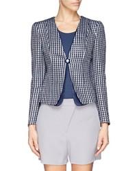 Geometric jacquard organdy layer tailored jacket medium 304659