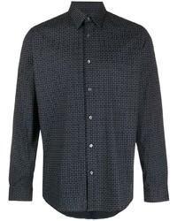 Theory Sylvain Geometric Print Shirt