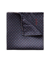 Eton Geometric Silk Pocket Square