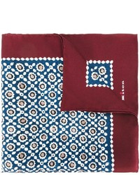 Kiton Geometric Print Pocket Square