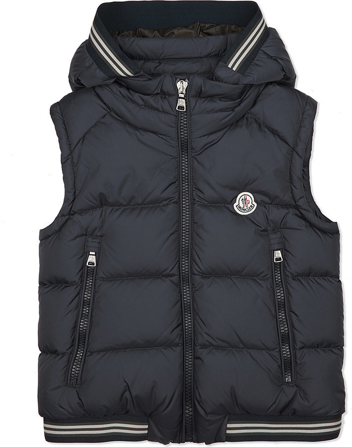 ... Moncler Amiens Stripe Trim Gilet 4 14 Years ...