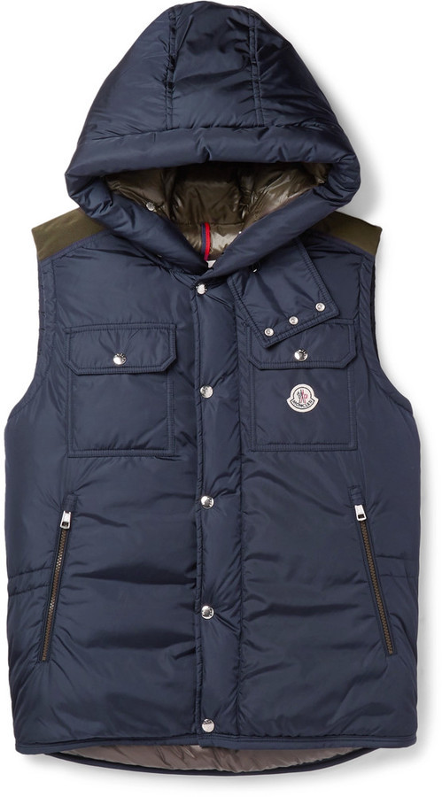 ... Moncler Anis Quilted Shell Hooded Down Gilet ...