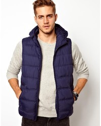 Asos Hooded Gilet Navy