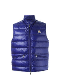 Moncler Classic Padded Gilet Blue